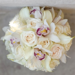 Orchids and Roses- all white