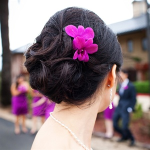 Orchid hair accent!