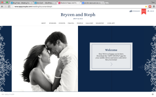 Get your own wedding website.